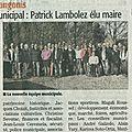 Maire, adjoints et conseillers municipaux de st-andré-de-sangonis