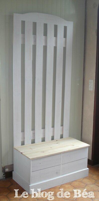 DIY vestiaire en bois de palette et médium