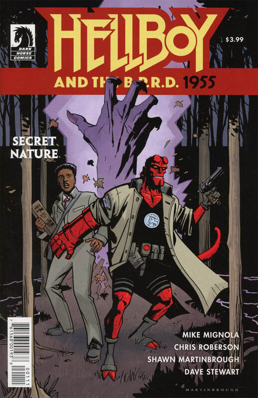 dark horse hellboy and the BPRD 1955 secret nature