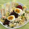 Salade ch'ti : chicon, betterave, ratte, maroilles