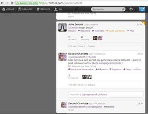 tweet Julie Zenatti 29