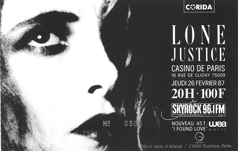 1987 02 Lone Justice Casino de Paris Billet