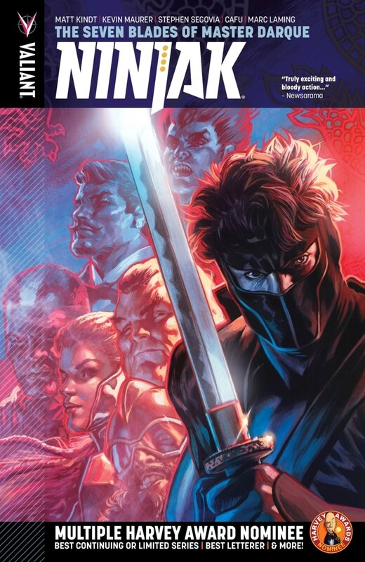 valiant ninjak vol 06 the seven blades of master darque TP