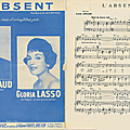 L'absent - gilbert bécaud (partition - sheet music)