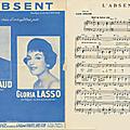 L'absent - gilbert bécaud (partition - sheet music)