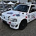 Rally de montbrison 42 2018 n°153 emelyne & audrey 106 xsi octobre rose