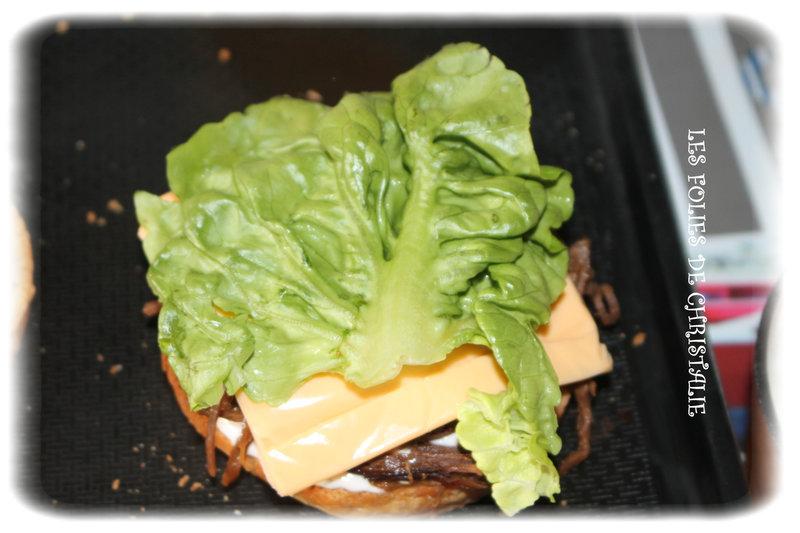 Burger effiloché chevreuil 3