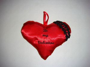 Coeur rouge be my Valentine face flash