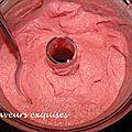 Crème glacée express à la framboise