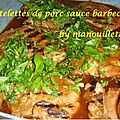 Côtelettes sauce barbecue