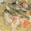 Poulet citronné et petits légumes