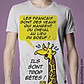 T-shirt girafe.