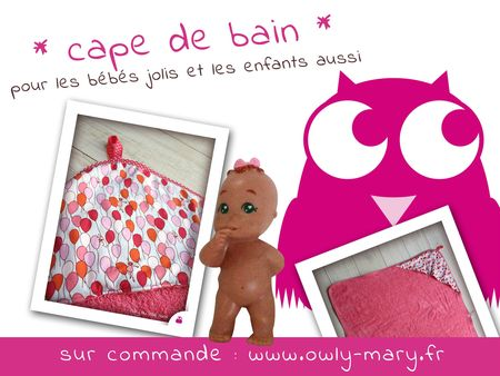 IMG_0851-PLANCHE-mary-du-pole-nord-owly-mary-cape-de-bain-poncho-de-bain-eponge-rose-fuchsia-michael-miller-children-at-play-sarah-jane-bais-pois-blanc-rose