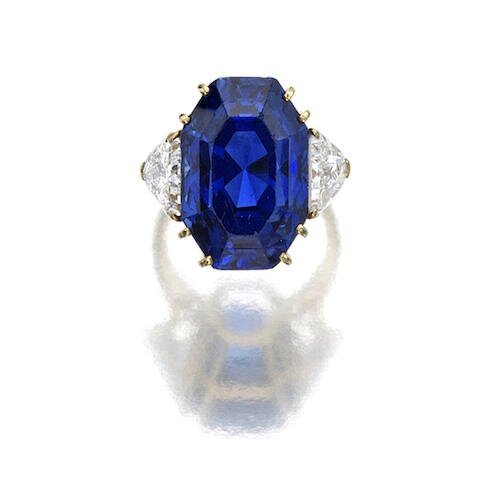A fine sapphire and diamond ring, M