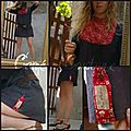 robe à plastron capel rouge ( couture nature)