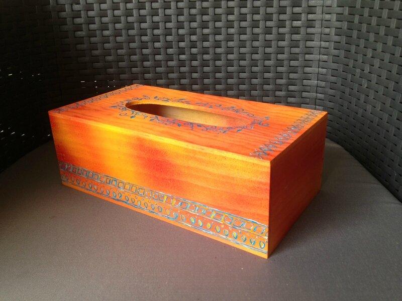 boite à mouchoir orange