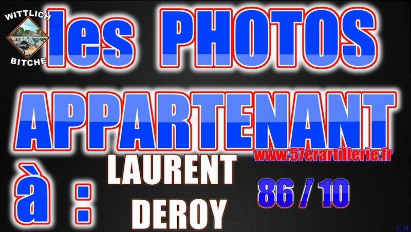 les PHOTOS APPARTENANT à Laurent DEROY