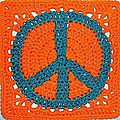 Crochet....tuto peace and love!