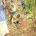 Amparafara - Adduction d'eau potable - Pose de la conduite