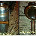 pot à lait lampe calèche