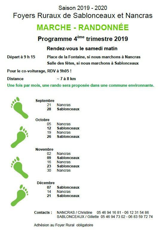 Marche_Calendrier -4emeTrimestre2019