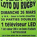 Loto du rugby d'alban le dimanche 26 mars à 14h sous la halle