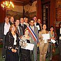 Remise des médailles du travail 10/2010