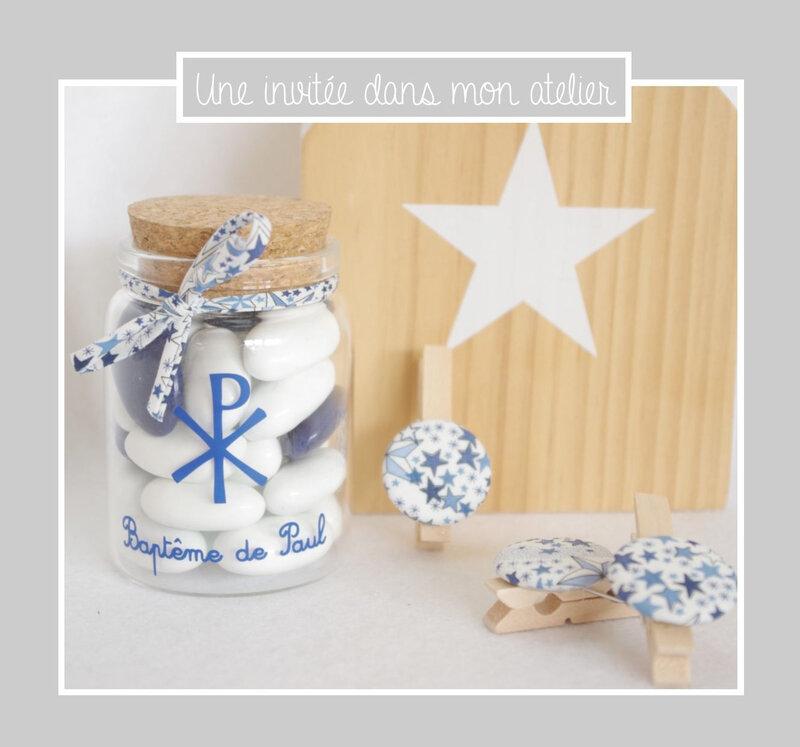 cadeau invité-contenant dragées-personnalisé-baptême-Liberty-adelajda bleu-une invitée dans mon atelier