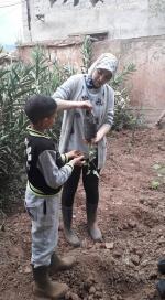 transmission d'un pot à planter