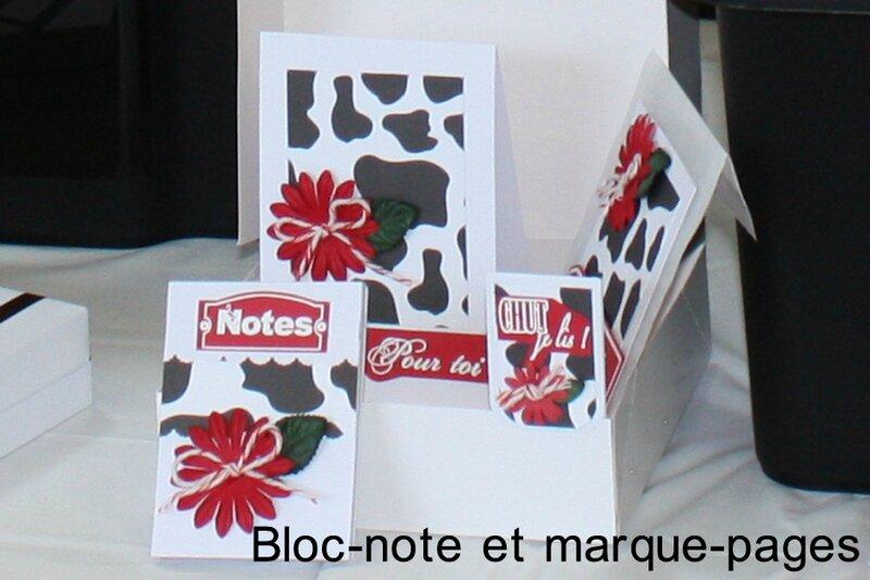 Cadeaux maitresses bloc-note marque-pages