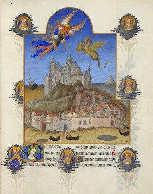 Le-Mont-Saint-Michel--Les-Tres-riches-heures-du-duc-de-Berry--XIVe