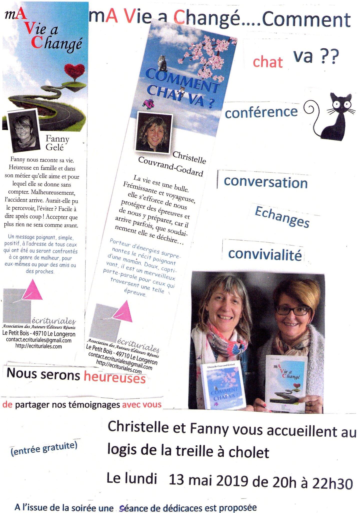 Veillée littéraire: deux écriturialistes en promo à Cholet