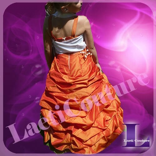 robe taffetas orange d'Alyssa2
