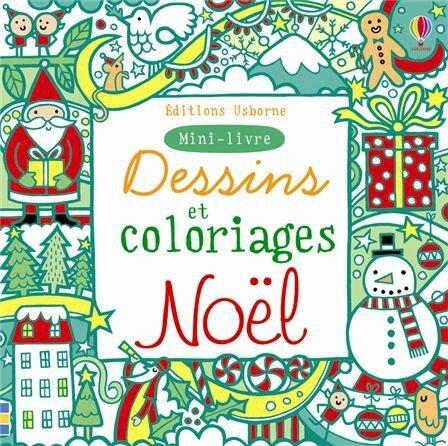 Usborne Mini Livre Dessins Et Coloriages Noel Histoire Du Soir