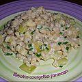 Blésotto de courgettes au parmesan