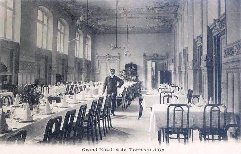 Belfort CPA Grand Hôtel Tonneau d'Or Salle à manger