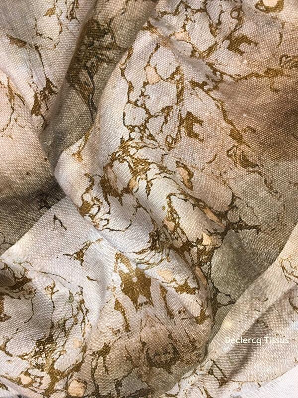 Les lins Carrare, modèle Colonnes - Declercq Tissus