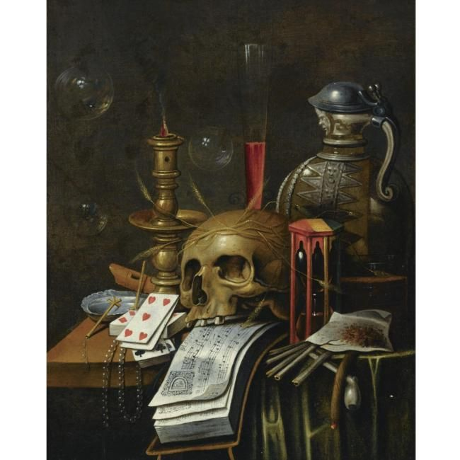 Follower of Cornelis Norbertus Gijsbrechts. A vanitas still life. photo Sotheby's