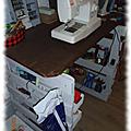 Mon bureau de couture...