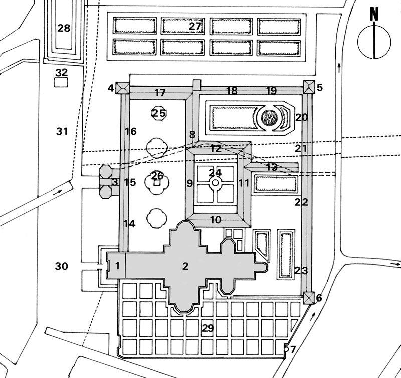 plan de l'abbaye de st amand