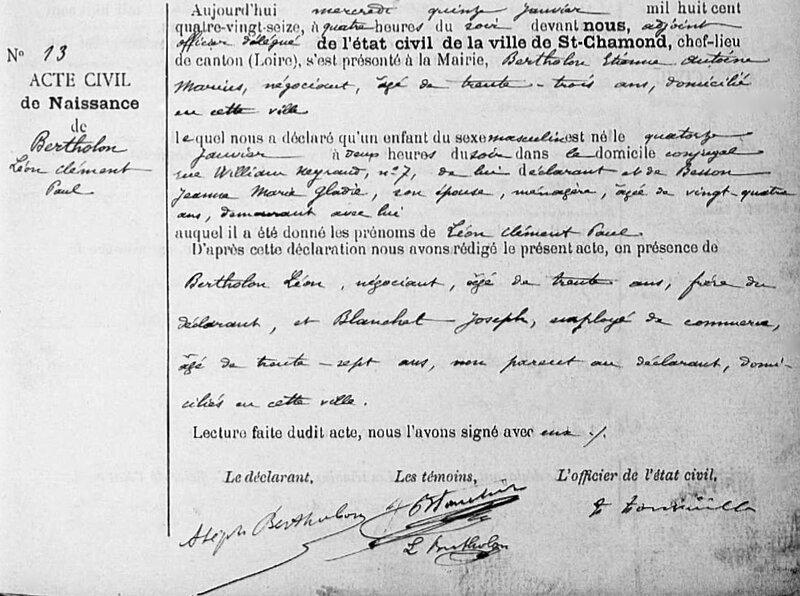 Bertholon Léon 1896