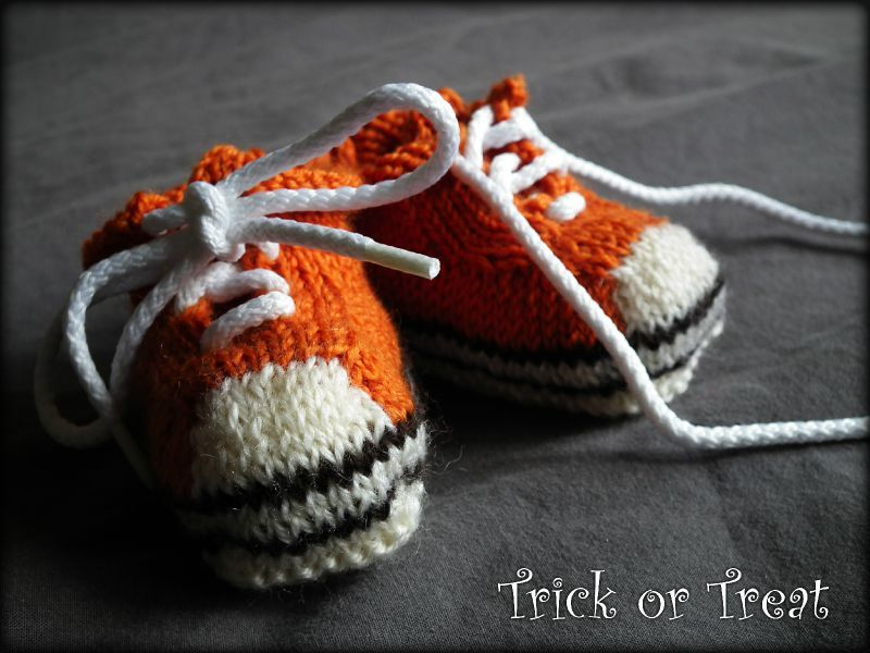 Baby Converses Trick Or Treat