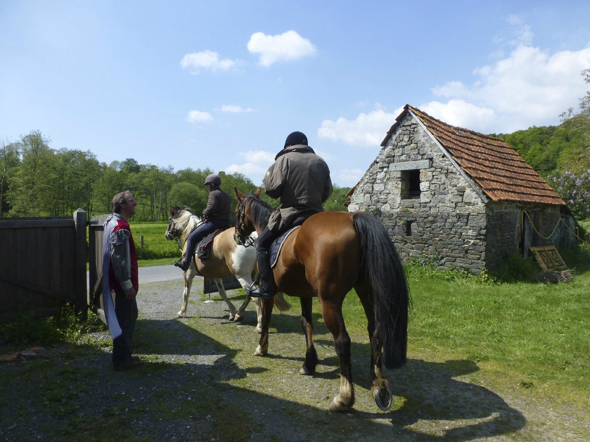 balade à cheval médiévale - Abbaye de Hambye (263)