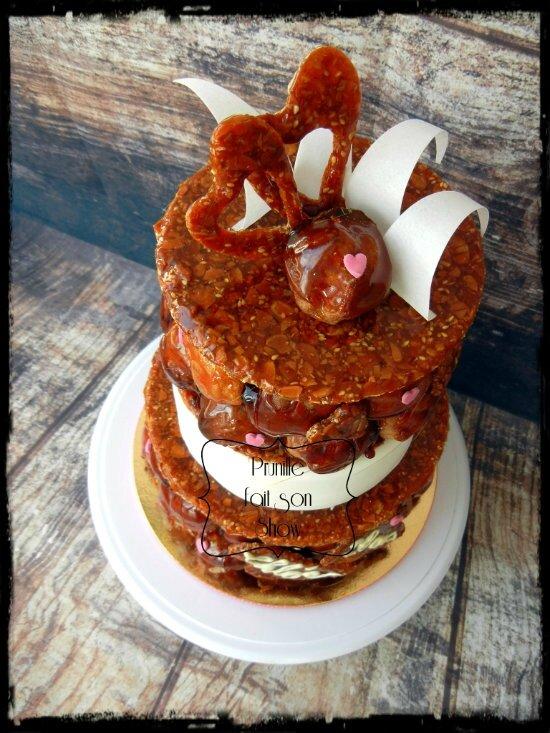 pièce montée choux gateau wedding cake prunillefee 6
