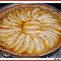 Tarte aux poires, compote de pommes et safran