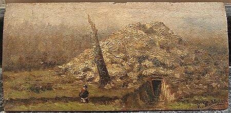 Peulot (Ernest), Souvenir de la guerre de 1870 Poudrière dans les bois de Monguichet Chemin de terre du Raincy