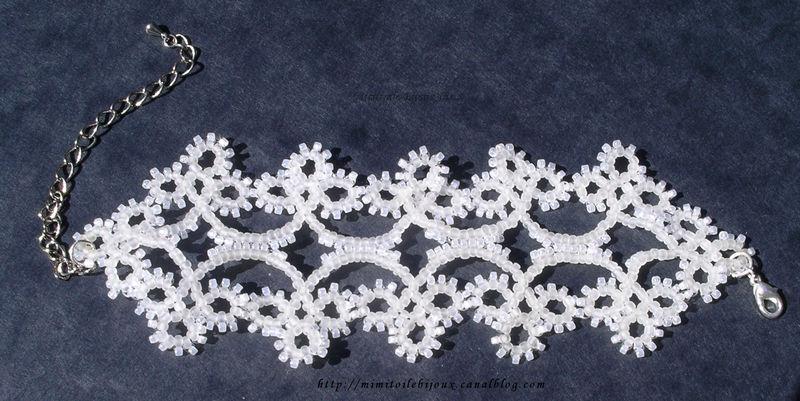 bracelet dentelle blanc