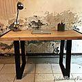 bureau bois métal 5