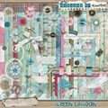 Scrap hybride : kit green lagoon de missvivi designs