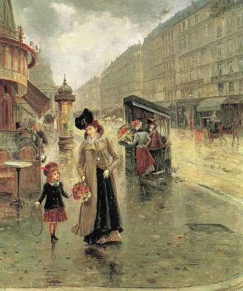 Joaquin Pallares Allustante La rue Soufflot avec le pantheon